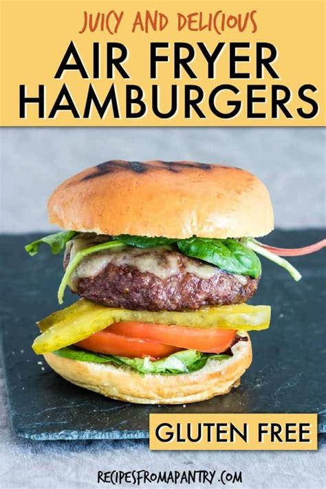 fryer air hamburgers juicy grill hamburger burgers recipes gluten version