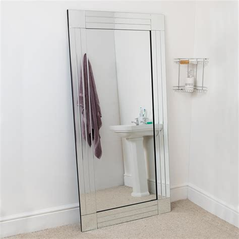 large bathroom length venetian wall mirror 5ft9