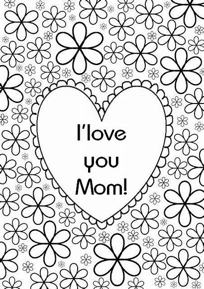 Coloring Mom Mother Heart Coloriage Therapy Happy