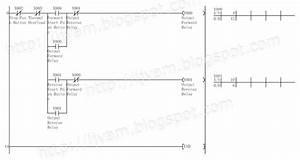 Electrical Wiring Diagram Forward Reverse Motor Control And Power Circuit Using Mitsubishi Plc
