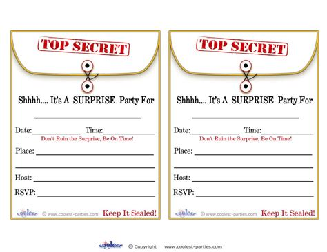Free Printable Surprise Birthday Party Invitations Templates Word Apa Format Template Xl Download Free Address Book Recipe Card Business Proposal Templates Gift Certificate Document Calendar Restaurant Menu