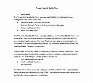 health and safety plan templates 10 free word pdf With workplace safety plan template