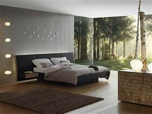 emejing idee deco chambre contemporaine gallery With chambre a coucher contemporaine