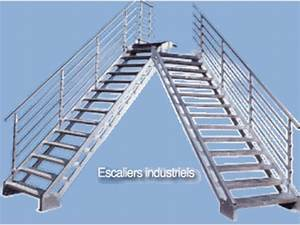 Escalier Métallique Industriel : escalier droit industriel contact bombrun les escaliers du vernosc ~ Melissatoandfro.com Idées de Décoration