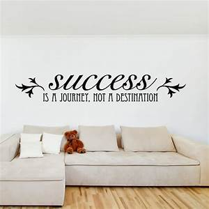 success is a journey life and inspirational quote wall With wall quote stickers