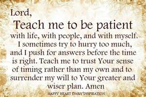 Patience Prayer Quotes