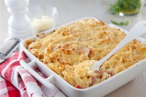 gratin de p 226 tes au jambon et au fromage recette de gratin de p 226 tes au jambon et au fromage