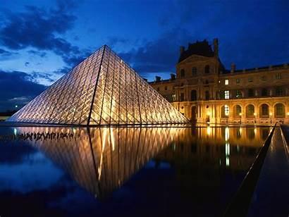 Paris Famous Places France Louvre Museum Pyramid