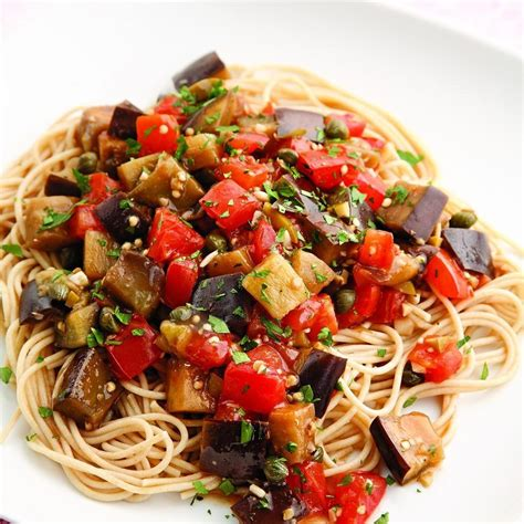 eggplant pomodoro pasta recipe eatingwell
