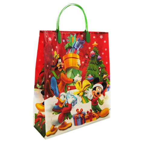 mickey mouse and friends red christmas gift bag disney