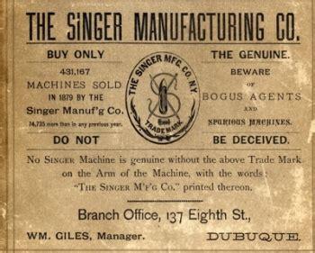 singer manufacturing company encyclopedia dubuque