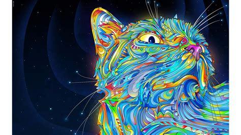 Cool Cat Abstract 4k Wallpaper  Free 4k Wallpaper