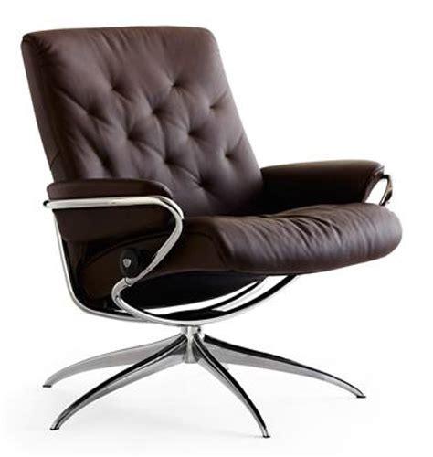 ekornes stressless metro low back leather recliner chair