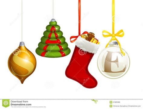 Sale Christmas Decorations Stock Vector. Illustration Of