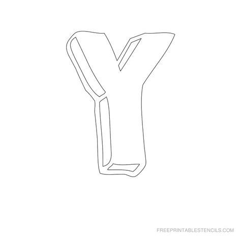 printable letters y printable letter stencils free printable stencils