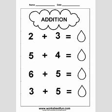 Addition  2 Worksheets  Kindergarten Worksheets  Pinterest  Kindergarten Worksheets, Free