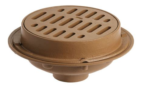 medium duty floor drains with 12 quot round tops jay r
