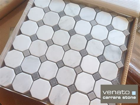 carrara venato gray dot mosaic floor and wall tile the