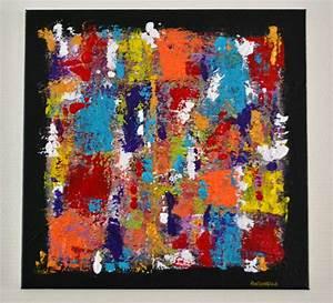 Tableau Moderne Coloré : tableau moderne abstrait color tableau contemporain multicolore tableau moderne peintures ~ Teatrodelosmanantiales.com Idées de Décoration