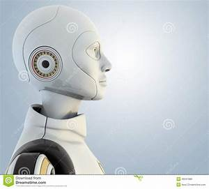 Robots head in profile stock illustration. Illustration of ...