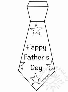 Happy Father's Day Tie template | Coloring Page