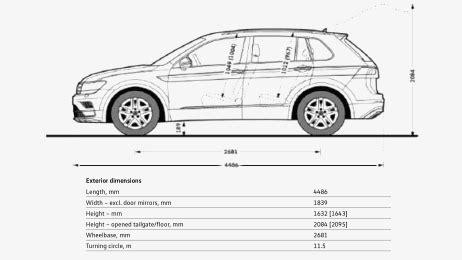 2017 Volkswagen Tiguan Dimensions by 2017 Vw Tiguan Interior Dimensions Psoriasisguru