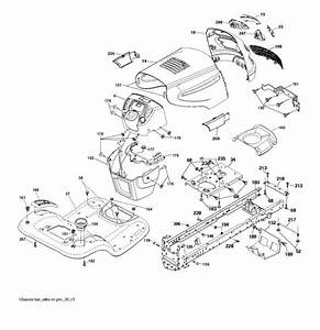 Mcculloch M22042h  96041023500  Ride On Mower Chassis