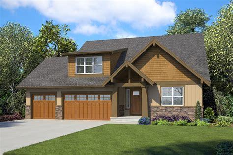 craftsman ranch home plan  bonus room   master suites  architectural