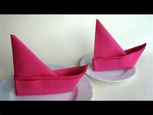 Youtube Servietten Falten : servietten falten anleitung boot ideen f r tischdeko basteln youtube ~ Frokenaadalensverden.com Haus und Dekorationen