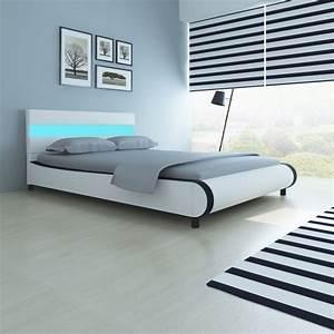 Tete De Lit 140 Pas Cher : acheter lit de 140 cm avec t te de lit et lumi re led ~ Melissatoandfro.com Idées de Décoration