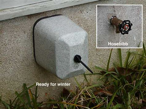 Outside Faucet Covers Winter by Outdoor Faucet Protector Extends The Outdoor Shower Sauna