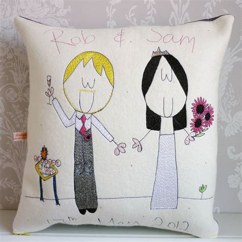 personalised wedding gift cushion  seabright designs