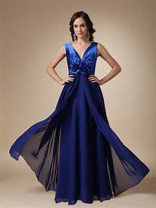 Old Navy Size Chart Plus Royal Blue Chiffon V Neck Prom Dress With Handmade Flowers