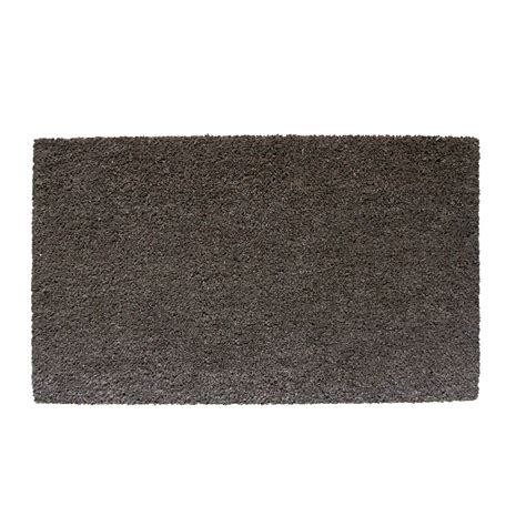 Plain Coir Doormat by Diall Grey Plain Printed Coir Door Mat L 750mm W 450mm