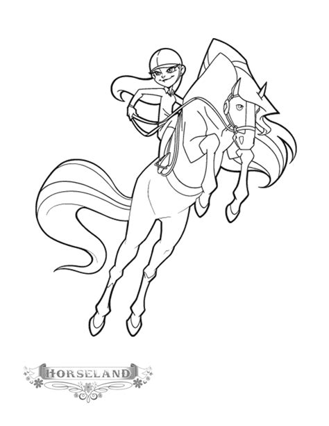 coloring page horseland coloring pages