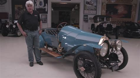 jay leno drives  oldest running bugatti