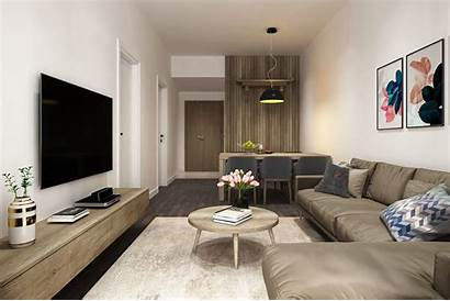 Apartment Simple 3d Livingroom Living Models Interior