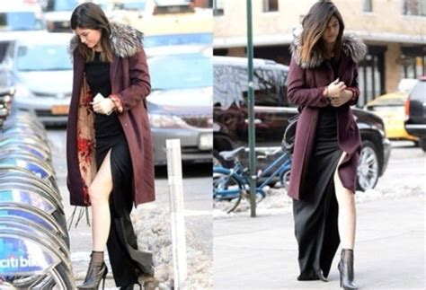 Coat kylie jenner dress long winter outfits - Wheretoget