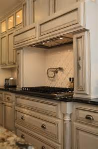 vintage kitchen tile backsplash gray granite countertops transitional kitchen davies development