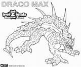 Invizimals Draco Max Shadow Zone Ombra Creature Colorare Drago Kleurplaten Disegni Antico Scolpito Pintar sketch template