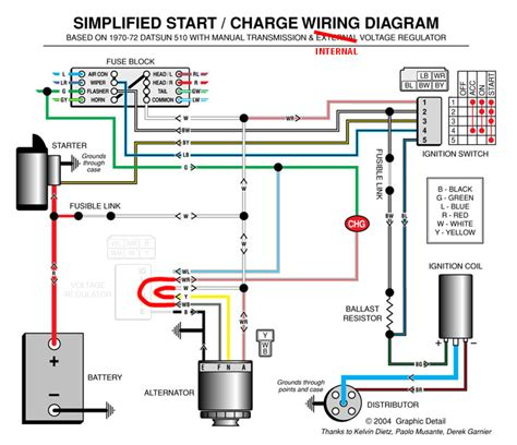 1984 Mustang Charging System Diagram by Ka Alternator And Voltage Regulator The 510 Realm