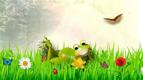 Whimsical Animal Wallpaper - froggy wallpapers wallpaper cave
