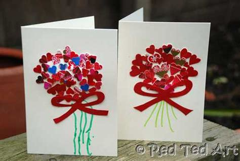 craft s handprints amp cards ted s 465 | valentine heart cards for kids