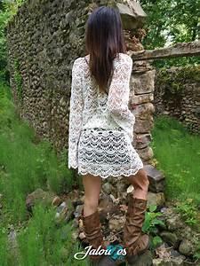 Robe Boheme Courte : robe courte style boh me en dentelle boho chic ~ Melissatoandfro.com Idées de Décoration