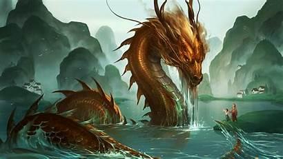 Dragon Chinese Wallpapers 3d Ocean Backgrounds Pixelstalk