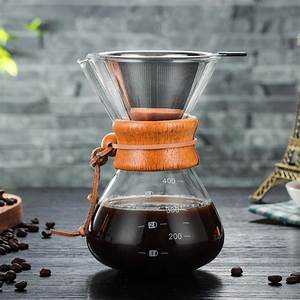 400 Ml Glass Pour Over Coffee Manual Drip Coffee Maker