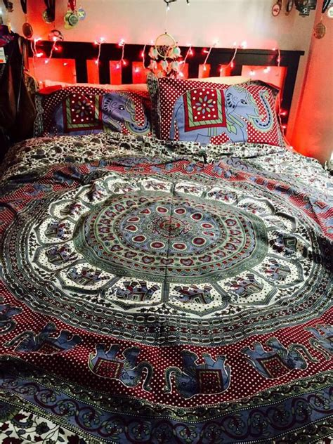 psychedelic bed set gypsy hippie paisley bohemian bedding