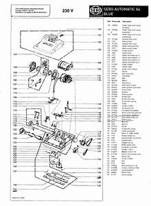 Sebo Automatic X4 Parts Manual  Exploded Diagram