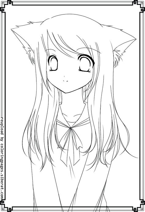 anime cat girl drawing  getdrawingscom   personal  anime cat girl drawing
