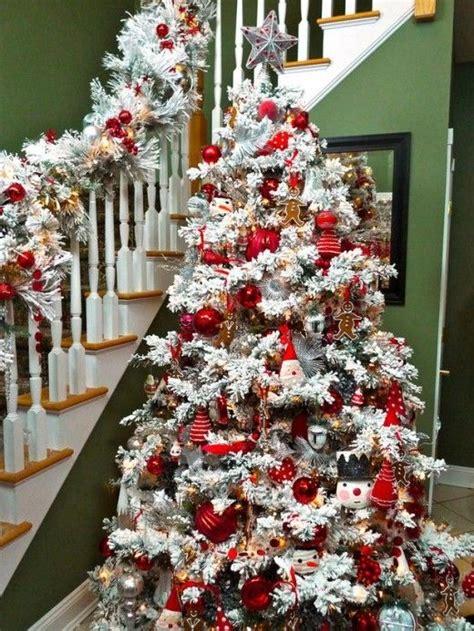 ideas  flocked christmas trees  pinterest